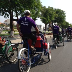 Cyclo ride in Phnom Penh