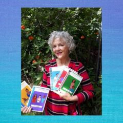 Carmel Davies with her new books, May Street Stories