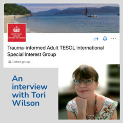 Picture of Tori Wilson and her new LinkedIn group on Trauma-informed language teaching